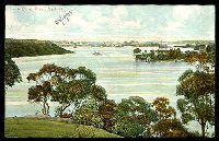 Lot 52 [1 of 2]:Australia - New South Wales: multi-coloured PPC 'Lane Cove River, Sydney'.