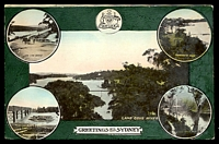 Lot 43:Australia - New South Wales: multi-coloured PPC 'Lane Cove River', nice card.