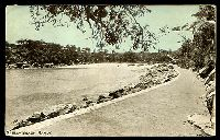 Lot 1384:Manly: - black & white PPC 'Shelly Beach, Manly', unused.  PO 1/4/1857.