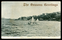 Lot 353:Australia - New South Wales: black & white PPC 'McMahon's Point, from Lavender Bay'.