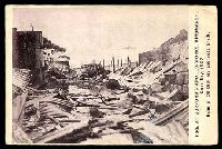 Lot 1775 [1 of 2]:Hindmarsh: - Sepia PPC 'Fire at Burford's Apollo Works, Hindmarsh, Xmas Day 1907 Ruins of Oil Distillery and Soda Sheds' used in 1910, great disaster card.  PO 29/1/1847.