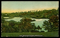 Lot 86:Australia - Victoria: multi-coloured PPC 'Lake Botanical Gardens Melbourne'.