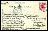 Lot 583 [2 of 2]:New Zealand: Multicoloured card 'Dunedin from Gardens Hill'.