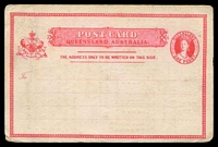 Lot 1504:1881-86 Chalon on White Stock HG #2 1d carmine on white stock with printed advert for Cribb & Foote on back.