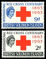Lot 4375:1963 Red Cross SG #101-2 set. (2)