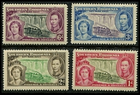Lot 28407:1937 Coronation KGVI SG #36-9 set. (4)
