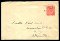 Lot 8115:1911 HG #B2 1d red, used in 1912.