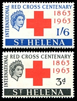 Lot 4320:1963 Red Cross SG #191-2 set. (2)