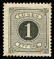 Lot 28534:1874-77 Perf 14 SG #D27 1o black, Cat £70.