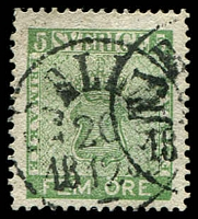 Lot 4407:1858-72 New Currency SG #6a 5o green.