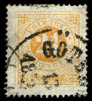 Lot 4194:1872 Perf 14 SG #23b 24o orange-yellow, Cat £50.