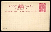 Lot 10133:1884-1902 Border Removed Hobart Printing 1d pink on white stock, HG #3c.