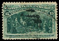 Lot 28755:1893 Columbus Sc #238 15c dark green.