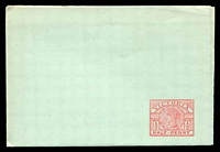 Lot 10012:1887 ½d Carmine on Green Stock Stieg #KE10b.