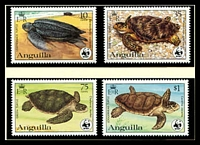 Lot 3216 [1 of 3]:1983 Sea Turtles SG #560-3 MUH set on WWF pages giving details of this threaten species comes together with set on WWF illustrated FDCs, unaddressed nice lot.