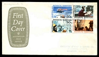 Lot 3647 [2 of 3]:1966 Defins set tied to three Australia Post covers by Macquarie Island canc 11 DEC 1966. (3)