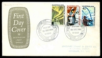 Lot 3647 [1 of 3]:1966 Defins set tied to three Australia Post covers by Macquarie Island canc 11 DEC 1966. (3)