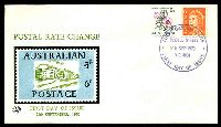 Lot 718:Excelsior 6c Floral Coil & 6c QEII tied to illustrated FDC by Russell Street cds 28 SEP 1970, unaddressed.
