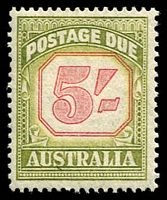 Lot 659:1953-59 New Value Plates For Shilling Values BW #D141 5/- carmine & yellow-green