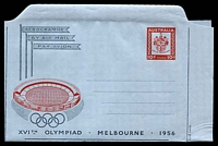 Lot 1022:1956 10d Olympic Games BW #A9 unused.