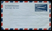 Lot 424:1959-65 10d Jet: BW #A11 text on reverse begins 'No Tape or Sticker', instruction on writing panel.