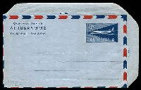 Lot 886:1959-65 10d Jet BW #A13B on light blue stock, unused.
