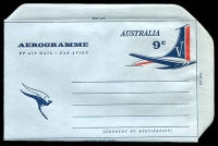 Lot 1025:1966 9c Tail of Aeroplane BW #A29 unused.