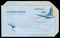 Lot 890:1968 10c Tail of Aeroplane BW #A29 with 'Overseas Service' omitted.