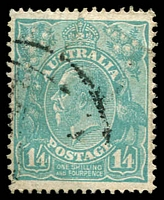 Lot 310:1/4d Greenish Blue - BW #131.