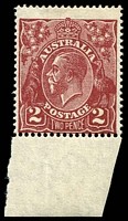 Lot 284:2d Red-Brown Die I: BW #98 marginal single.