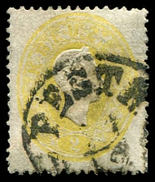 Lot 3661:1860 Kaiser Franz Joseph SG #33 2Kr yellow, Cat £43.