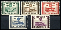 Lot 17661:1955 Anniversary of Austrian Republic SG #1269-73 set. (5)