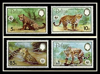 Lot 17595 [1 of 3]:1983 Jaguar MUH set on WWF pages giving details of this threaten species comes together with set on WWF illustrated FDCs, unaddressed nice lot.