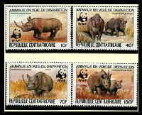 Lot 18156 [1 of 3]:1983 Black Rhinoceros MUH set on WWF pages giving details of this threaten species comes together with set on WWF illustrated FDCs, unaddressed nice lot.