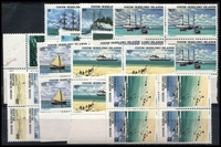 Lot 3954 [2 of 2]:1976 Ships Defins SG #20-31 set in blocks of 4.