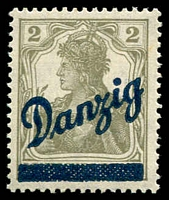 Lot 3875:1920 Overprints Mi #32 2pf grey