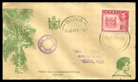 Lot 3549:1938-55 Pictorials illustrated FDC with KGVI 8d SG 261c tied by Suva cds 15 No 48.