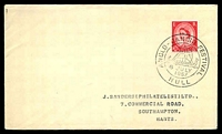 Lot 4152:1957 Anglo - Danish Festival cover with adhesive tied by special cancel Hull 6 July 1957.