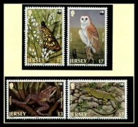 Lot 3864 [1 of 3]:1989 Jersey Wildlife SG #492-5 MUH set on WWF pages giving details of this threaten species comes together with set on WWF illustrated FDCs, unaddressed nice lot.