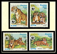 Lot 25181 [1 of 3]:1984 Tiger SG #704-7 MUH set on WWF pages giving details of this threaten species comes together with set on WWF illustrated FDCs, unaddressed nice lot.