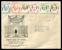 Lot 26056:1946 Child Welfare illustrated FDC with set tied by Delft cds 18 IX 1946.
