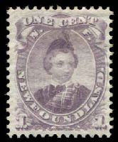 Lot 25739:1868 Prince of Wales SG #34 1c dull purple, MNG.