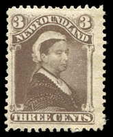Lot 26681:1887 New Colours and Values SG #52 3c deep brown QV.