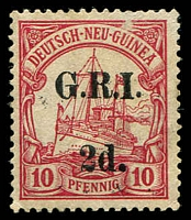 Lot 22417:1914-15 Stamps of 1901 Surch SG #3 2d on 10pf, small surface rub at top.