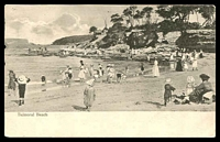 Lot 991 [1 of 3]:Balmoral Beach: Black & white PPC 'Balmoral Beach', early beach scene.  PO 15/6/1936; closed 30/4/1987.