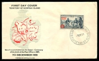 Lot 4462 [1 of 2]:1959 Birth of Post Office illustrated FDC with 5d tied by Norfolk Island cds 7DE59, unaddressed.