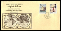 Lot 4265:1988 Bicentenary of Norfolk Island set tied to illustrated FDC by Norfolk Island cds 25 JAN 1988, unaddressed.