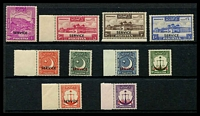 Lot 4149:1953 Ovpt Service: SG #O26b,35-43 3p to 5R, plus 1948 10r P13. (10)