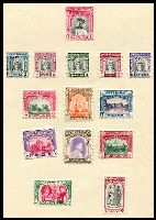 Lot 4053 [2 of 3]:1947-49 Selection on album leaves incl 1947 Bicentenary, 1948 defins to 1r (mint),1946 Victory Official x8 used & 1949 UPU & Official sets mint. (37)