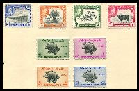 Lot 4053 [1 of 3]:1947-49 Selection on album leaves incl 1947 Bicentenary, 1948 defins to 1r (mint),1946 Victory Official x8 used & 1949 UPU & Official sets mint. (37)